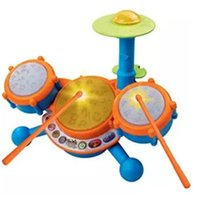 Wholesale Kid s Toy Drum Set Includes A Pair of Drumsticks Three Drum Pads and Cymbal Each