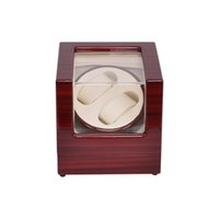 White outside display cases - Watch Winder LT Wooden Automatic Rotation Watch Winder Storage Case Display Box Outside is rose red and inside is white