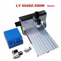Wholesale 4 axis Engraving machine cnc lathe machine LY Z W DC spindle wood Router Milling Machine for wood cutting