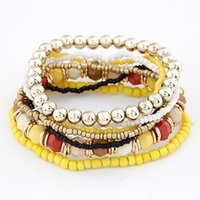 Wholesale 2017 Bohemian Summer Jewelry MutiLayer Beads Bracelets Bangles for Women Elastic Strand Pulseras Mujer Femme Bijouterie