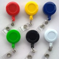 badges zinc - Solid Badge rell Retractable badge reel card holder for lanyard or ID card customized gifts BR004