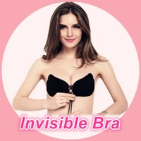 Wholesale Sexy Women Push Up Bra Front Closure Self Adhesive Silicone Gel Invisible Bra Seamless Strapless Backless Bra A B C D