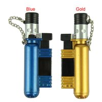 Wholesale Taotown New Fashion Man Jet Torch Windproof Cigar Cigarette Refillable Butane Gas Lighter AM Freeshipping