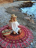 beach hanging - New Summer Indian Mandala Bedspread Tapestry Shawl Wall Hanging Bohemian Ethnic Throw Beauty Wall Decor Beach Towel Big Bed Cover Yoga Mat