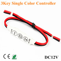 Wholesale 12V Mini Keys Single Color LED Controller Brightness Dimmer for led strip light car light controller