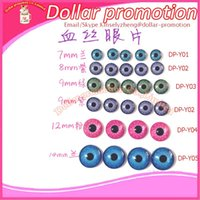 Wholesale pieces color size and DIY humanoid doll toy accessories flat bottomed simulation crystal eyes mm mm