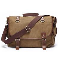 Wholesale Alivictory Classic Canvas Messenger Bag for Men Women Messneger Crossbody Bags Fashion School Bag Bookbag Tatical Shoulder Bag Travel