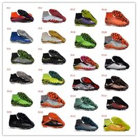 Soft Spike beige leather shoes - Hypervenom Phantom II FG Soccer Shoes Hypervenom Football Shoes Soccer Boots Football Boots Men Outdoor Soccer Football Cleats Athletic Shoe