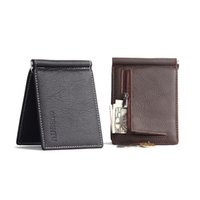 Wholesale Multi function Unique Ultra thin Leisure Style Brown Black Real leather with Fine
