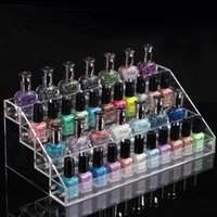Wholesale 4 Tier Clear Acrylic Display Stand Makeup Nail Polish Storage Organizer Tier Rack Display Stand Holder KKA1224