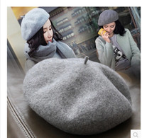 Wholesale Hot pepper ms han edition about spring wool hat beret simple pure color restoring ancient ways of England fashion artist cap