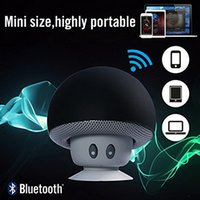 Wholesale Mushroom Mini Wireless Bluetooth Speaker Hands Free Sucker Cup Audio Receiver Music Stereo Subwoofer USB For Android IOS PC for s7 edge