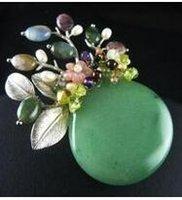 China Broche de joyería Pin accesorios de piedras preciosas grandes ramillete
