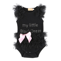 Wholesale Baby Girl Clothes Sleeveless Letter Bow Summer Baby Romper Newborn Baby Jumpsuits One piece Shirt Tops Dress Costume