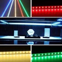 achat en gros de ip68 conduit bandes lumineuses-6XHard LED bande imperméable à l'eau étanche IP68 5630SMD Cool Warm blanc rigide barre 36LEDs 0,5 mètres d'éclairage bandes avec 7 couleurs pour le choix