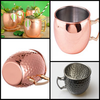Wholesale Moscow Mule Mug Hammered Copper with Brass Handle classic beer cup drink cups ml