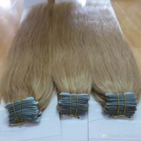 Wholesale 100 Brazilian Human Virgin Hair Tape hair extension Remy Straight Hair PU Skin Weft Hair Extension Human Hair
