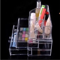 Wholesale 24pcs High Quality Clear Acrylic Cosmetic Jewelry Organizer Makeup Box Case SF