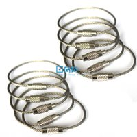 aircraft cable ring - Pack mm Aircraft Cable Stainless Steel Wire EDC Key Chain Rings EDC Gear