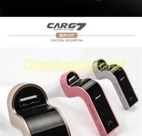Wholesale G7 Smartphone Bluetooth MP3 Radio Player FM Transmitter Modulator A Car Charger Wireless Kit Support Hands free Micro SD TF Card E087