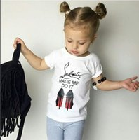 Wholesale 2017 Kids Summer T Shirt Baby Girl Short Sleeve Letter Print Tops Children Soft Cotton Top Tees