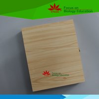 Wholesale Beautiful capacity microscope slides wooden box