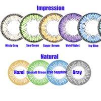 Wholesale free with cases branclear color contact lenses Natural and Impressiong colors contact lens