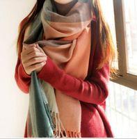 Wholesale Women fashion Plaid Scarf Warm Soft Winter Blanket Pashmina Scarf Oversized Tartan Scarf women Shawl Scarf Scarves Wraps christmas gift
