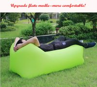 Wholesale Upgrade Fast Inflatable Camping Sofa Sleeping Lazy Chair Bag Nylon Oxford Pu Hangout Air Beach Bed chair Couch Laybag Seconds open
