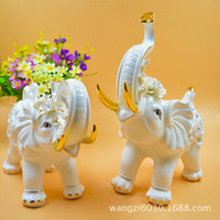 Carved antiques shoes - 2 elephant series of European ceramic crafts household items decorative ornaments works of art