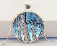 american birch - Bountiful Birches Birch Tree Pendant Tree Photo Art Pendant Necklace