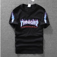 best white shirt for women - Best quality Thrasher Short Sleeve T Shirt Summer Streetwear Tee Shirts Cool Skateboard T Shirts tee top clothing for men and women