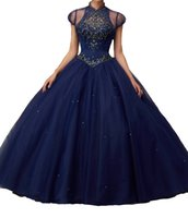 Wholesale Cheap Vest Wrap - Tailored Navy heavy hand made cloth tail skirt back Classic strap design cheap shipping 2016 Quinceanera Dresses new pop - send vest
