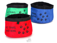 Wholesale Pet Dogs Cats Water Bowls Portable Outdoor Folding Bowls For Dogs Travel Camping Food Water Feeder Bowl Dishes
