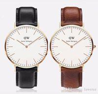 Wholesale 2017 dw watch top luxury Brand Daniel Wellington color mm mm DW Watch Women and men Leather strap sports Quartz watch Relojes