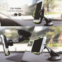 Wholesale Universal Car Phone Holder Gps Accessories Viscosity Silica Suction Cup Celular Para Auto Dashboard Windshield Mobile Cell Retractable Mount