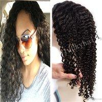 Cheveux bouclés profonde mongolian 7a Avis-Mongolian Virgin Hair Lace Front Perruque Deep Curly Full Lace Wig Hair Grade 7a Perruques pour cheveux humains pour les femmes noires