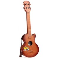 Wholesale Inch Ukulele Four Strings Instrument Brown Ukulele Semi closed Basswood Ukelele Toy Guitar For Kids Children Gift