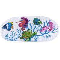 Wholesale Cartoon Anti slip PVC Bath Mat Bathroom Safety Carpet Shower Floor Cushion Rug with Suction Cups Seaworld Turtle For Bathroom