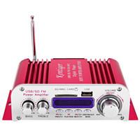 Wholesale New V Mini Digital Hi Fi Car Stereo Power Amplifier LED Sound Mode Audio Motorcycle Music Player USB MP3 SD FM Amplifier car amplifier