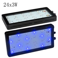 Wholesale Dimmable W LED Aquarium Lights Full Spectrum for Reef Coral LPS SPS Two Switches Two Dimmers for cube tank