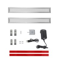 bar cabinet accessories - LED Under Cabinet Lighting Panels Kit with IR Sensor DC V Lumens Warm White K inch W Light Bar all Accessories Included