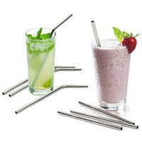 Wholesale Drinking Straw Beer Juice Straws Stainless Steel Travel Mugs Metal Sucker Straws with Cleaning Brush for Z OZ CUPS