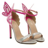 amazon sandals - Amazon hot and the wind colorful butterfly high heeled sandals street fashion leisure shoes BN0002