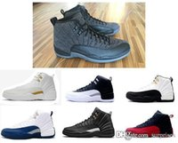 Wholesale cheap air retro wool XII basketball shoes ovo white Flu Game wolf grey Gym Red taxi gamma french blue Suede sneaker