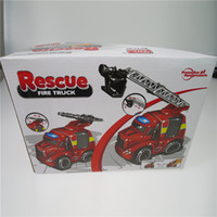 Wholesale Fire Engine Car Models Lights Sounds Baby Resure Fire Trunk Diecast Model Cars Children Model Toys