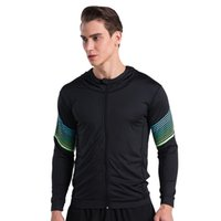 Wholesale Men Running Run Jacket Sweaters Hoody Fitness Excercise Outdoor Sports Soccer Football Training Gym Jogging Jogger Jackets