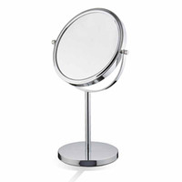 Wholesale KG Inch Inch Inch Tabletop Swivel Mirror Double Sided Make Up Mirror Metal Color Chrome plated