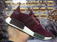 b w pack - 2016 NMD R1 W Suede Pack man and woman top quality running shoes size eur drop price