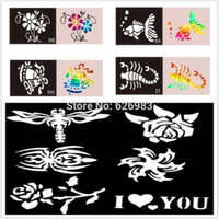 Wholesale Temporary Glitter Tattoo Stencil Airbrush Mixed Tattoo Templates Designs For Body Art Paint